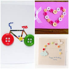 easy handmade greeting card a best hobby for kids 4 handmade button cards ideas for kids