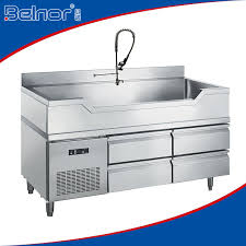 stainless steel fish cleaning preparation table