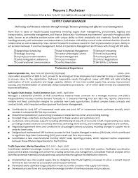 ... Planning Manager Resume Sample Gallery: Supply Chain Resume