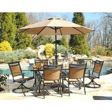 outdoor dining table with umbrella outdoor dining set w swivel chairs and umbrella outdoor dining table