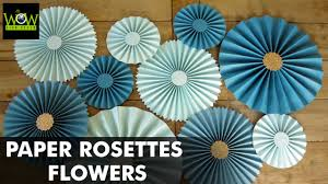 Paper Rosette Flower How To Make Paper Rosettes Flowers Paper Pinwheels Backdrop For