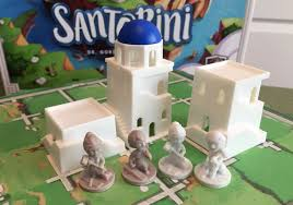 Game With Rocks And Wooden Board The Board Game Family Santorini rocks as a 100player board game 50