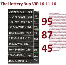 Vip Chart Thai Lottery 16 11 2016 Last Update 9lotter