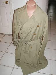 ww2 officers khaki poplin trench coat