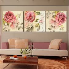 Small Picture Aliexpresscom Buy 3 Piece Wall Art Painting Classic Flower Rose
