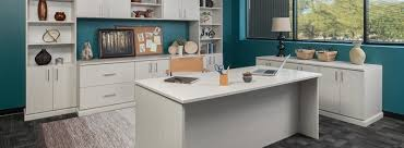 custom home office cabinets. Custom Home Office With Arctic Finish Cabinets