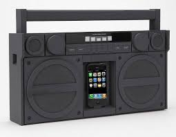 speakers for iphone. ihome ip4 portable fm stereo boombox speakers for iphone