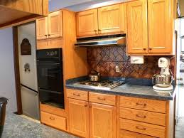 Applied Modern Cabinet Hardware In Large Solid Oak Wood Kitchen With  Ceramic Countertops Where