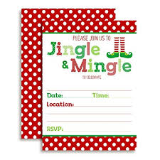 Christmas Holiday Invitations Amazon Com Jingle And Mingle Christmas Holiday Party