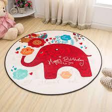 red elephant cute cartoon carpets anti slip floor mat bedroom living room outdoor rug carpet
