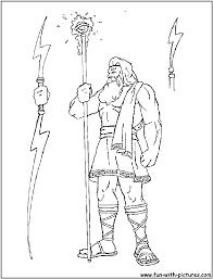 Zeus Greek God Coloring Pages