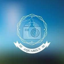 Fototapeta Vodnář Znamení Horoskop Tetování Vinobraní Odznak