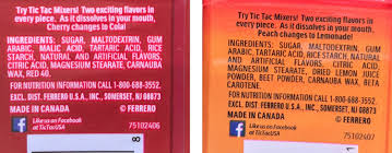 amazon 1 tic tac mixers peach lemonade and 1 tic tacs mixers cherry cola a flavor changing experience grocery gourmet food