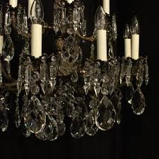 gilt italian pair of gilded fifteen light antique chandeliers for