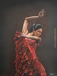 flamenco dancer 3 painting flamenco dancer flamenco dancer 3 art painting