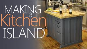 Kitchen Island With Storage Making My Kitchen Island With Lots Of Storage Youtube
