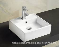 china supplier white solid surface bathroom countertop ceramic basin 421