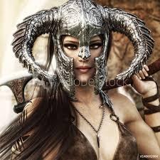 Fotografie Obraz Beautiful And Deadly Fantasy Warrior Female