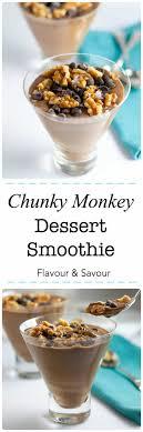 chunky monkey dessert smoothie a nutritious dessert made with vegan protein shake silk non