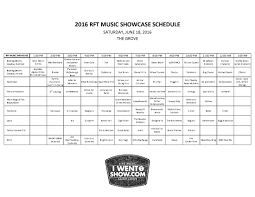 Music Spreadsheet Heres Your 2016 Rft Music Showcase Spreadsheet And A Video