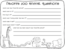 first grade schoolhouse zoo animals writing and field trip graphics by fancy dog studio and kpm doodles