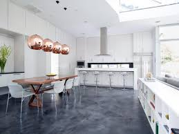 Stained Concrete Kitchen Floor Modern Kitchen With Stained Concrete Floors Miserv