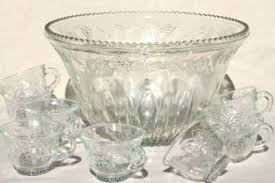 glass punch bowl set miniature carnival antique bowls for solid silver