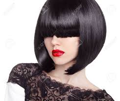 Haircut And Hairstyle fashion bob haircut hairstyle long fringe short hair style 7661 by stevesalt.us