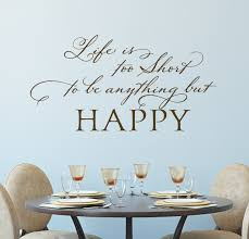 Happy Life Quotes Motivational Wall Decals Be Happy Wall Decor