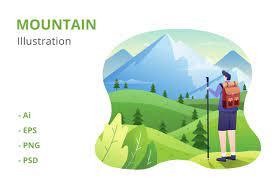 Free download beginning in 3 seconds. Mountain Illustration 719773 Illustrations Design Bundles