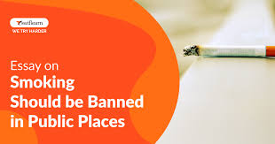 be banned in public places essay