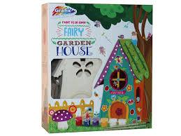 paint your own garden fairy house home kids art kit childrens craft activity set