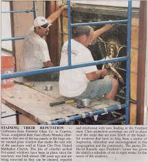 tennessee newspaper article on freebird glass doing restoration