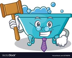 judge bathtub character cartoon style vector image royalty free vector