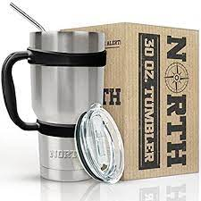 The best travel mug for coffee: Amazon Com North Stainless Steel Vacuum Insulated 5 Piece Tumbler Set 30 Oz Travel Mug For Home Office School Like Yeti Tumbler For Ice Drink Hot Beverage Tumblers Water Glasses