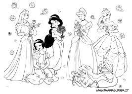 Immagini Principesse Da Colorare Colorare
