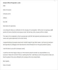 Resign Letter Format In Word Resignation Letter Sample In Word 9 Examples In Word
