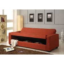 shani red linen adjule sofa set w storage