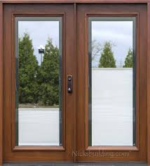 beveled leaded glass entry doors full lite wood double doors with shades between the glass front