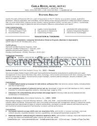 Collection Of Solutions Business Systems Analyst Resume Sample