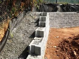permeable concrete retaining wall