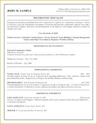 Phlebotomy Resume Unique Phlebotomist Resume Objective Examples Phlebotomy Sample Awesome No