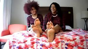 Ebony female foot fetish