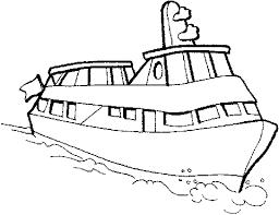 Kleurplaat Boot