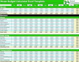 Budget Calculator Excel Spreadsheet Budget Calculator