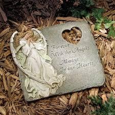 angel memorial garden stone