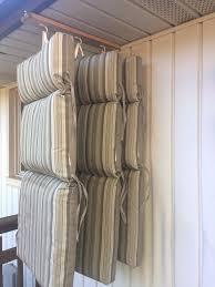 diy chair cushion storage solution