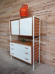 teak retro furniture. Delighful Furniture Metal Framed Teak  Painted Wall Unit Room Devider White Is A Off White To Teak Retro Furniture O