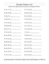 Growing And Shrinking Growing And Shrinking Number Patterns A