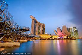 Marina Bay Sands Hotel at Sunset Print Photos Fine Art Landscape